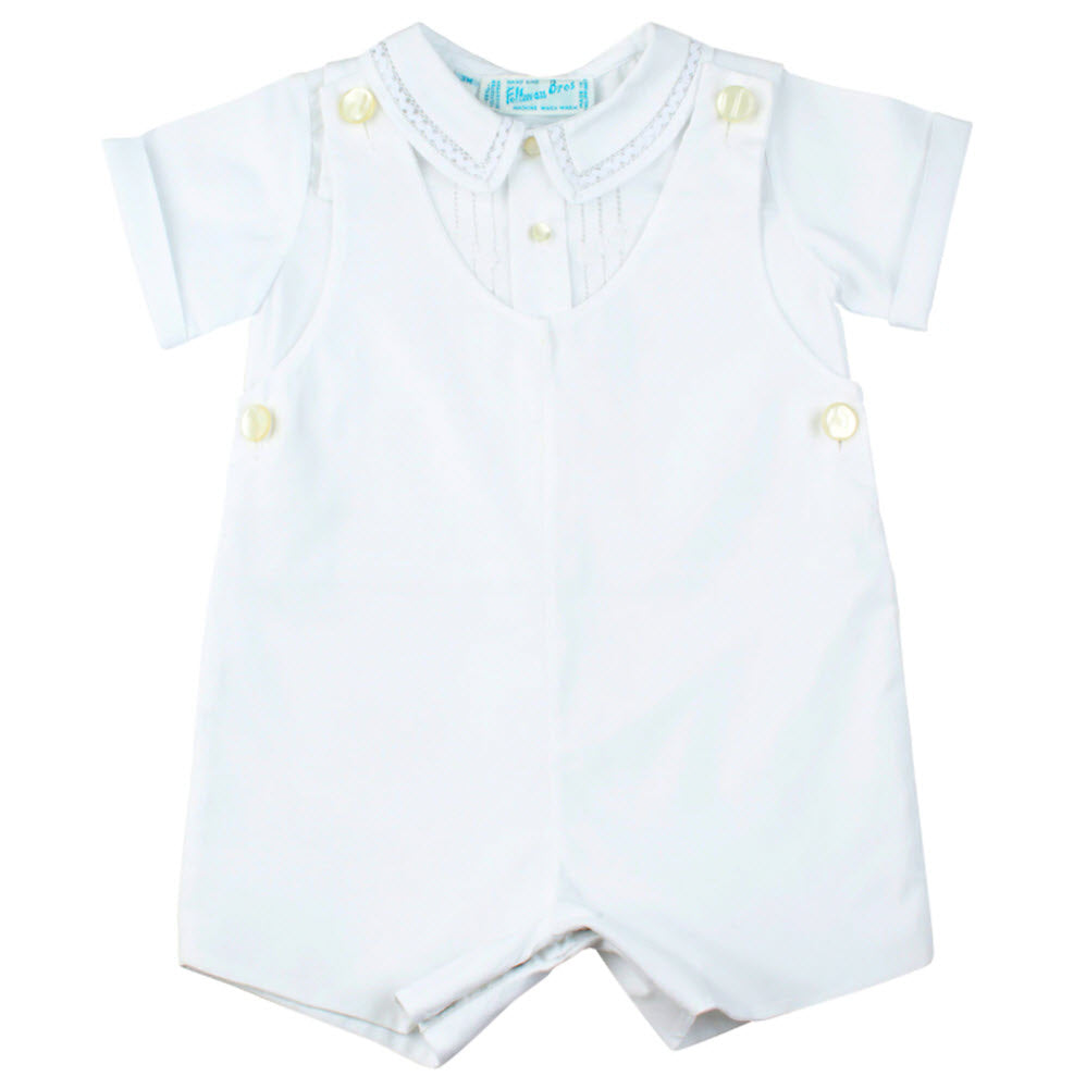 White Tucked Boys Highrise Suit