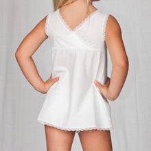 Load image into Gallery viewer, Girls White Batiste Simple A-Line Slip