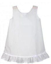 Load image into Gallery viewer, Girls White Batiste Ruffled Hem A-Line Slip