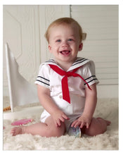 Load image into Gallery viewer, White Nautical Boys Sailor Suit