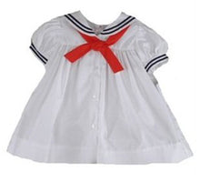 Load image into Gallery viewer, Girls Nautical Sailor Dress