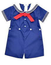 Load image into Gallery viewer, Navy Blue Nautical Boys Sailor Suit