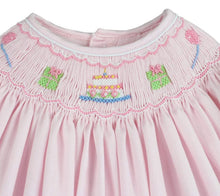 Load image into Gallery viewer, Pastel Pink Smocked Birthday Dress