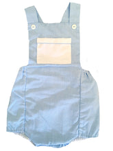 Load image into Gallery viewer, Blue & White Gingham Check Boys Sunsuit