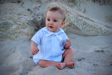 Load image into Gallery viewer, Baby Blue Boys Nautical Romper