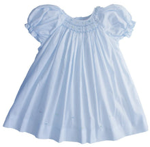 Load image into Gallery viewer, Powder Blue Smocked Baby Daydress