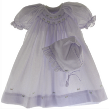 Load image into Gallery viewer, Lavender Smocked Baby Daydress