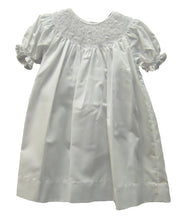 Load image into Gallery viewer, White Smocked Daydress with Bonnet