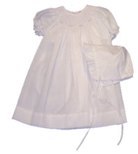 Load image into Gallery viewer, White Smocked Baby Daydress