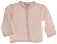 Load image into Gallery viewer, Girls Pink Cardigan Sweater