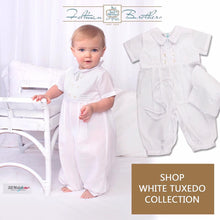 Load image into Gallery viewer, Boys White Mock Vest Shortall