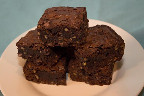 Double Brownie with Walnuts