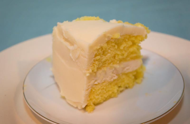 Double Stacked Lemon Margarite Cake with Tequila & Raw Triple