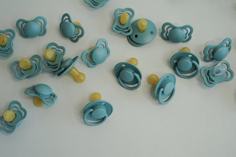 Range of rubber latex pacifiers