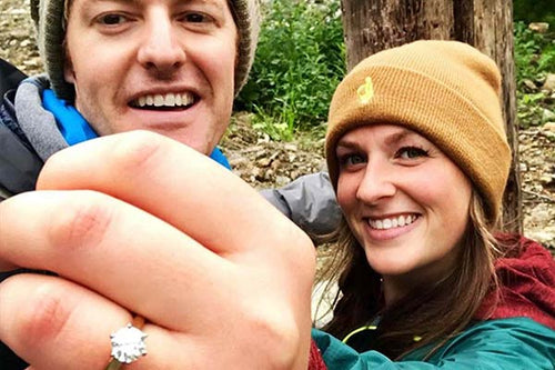 Couple who just got engaged