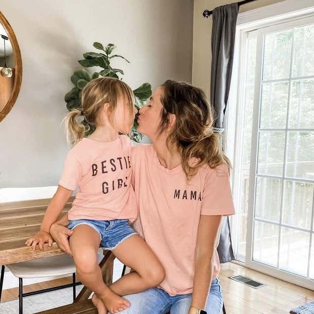 Pale Coral Mama Essential Tee | Mommy and Me 1
