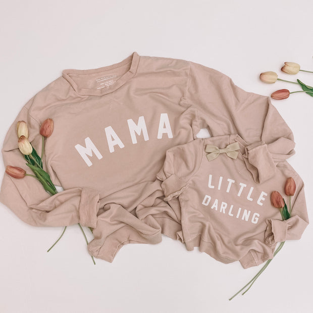 Little Darling Essential Crewneck   Mommy and Me Sweatshirts 1