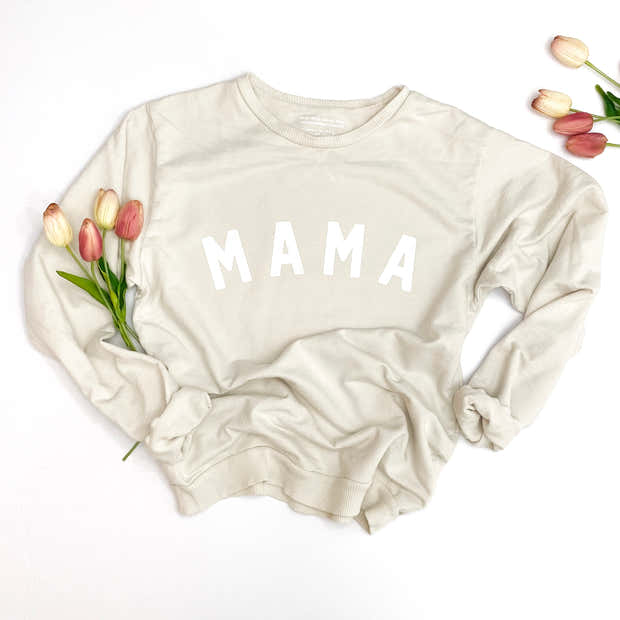 Curved Mama Essential Crewneck | Mommy and Me Sweatshirts 1