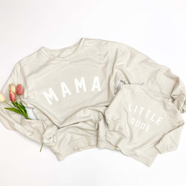 Little Dude Essential Crewneck | Mommy and Me Sweatshirts 1