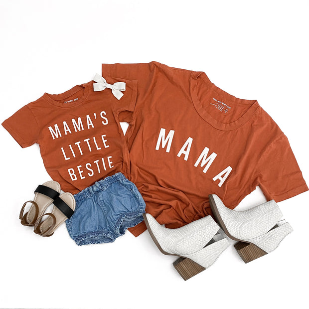 Mama's Little Bestie Faded Essential Tee | Mommy and Me 1