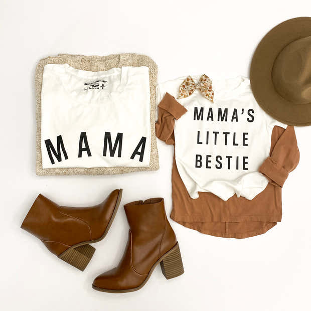 Mama's Little Bestie Essential Tee   Mommy and Me 1