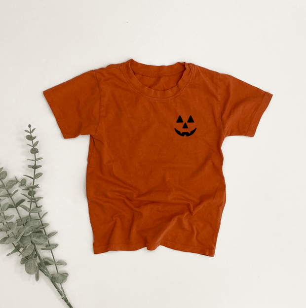 Jack-o-Lantern Child Essential Tee - Left Chest Design   Mommy and Me 1