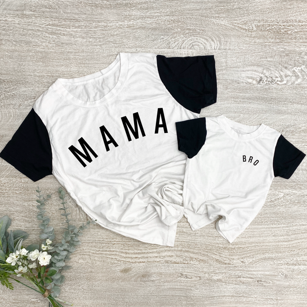 Bro Colorblock Essential Tee | Mommy and Me 1
