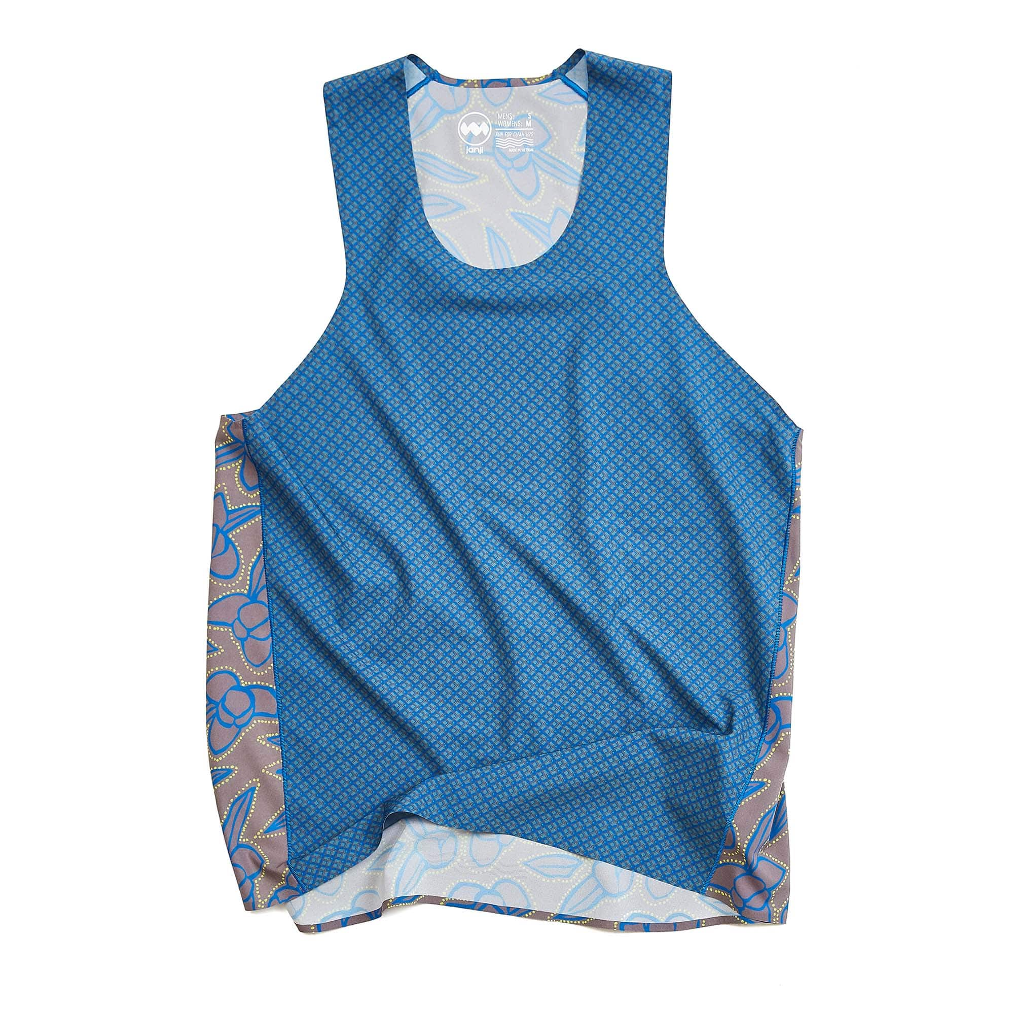 AFO Orbital Singlet in Blue Gingham Floral