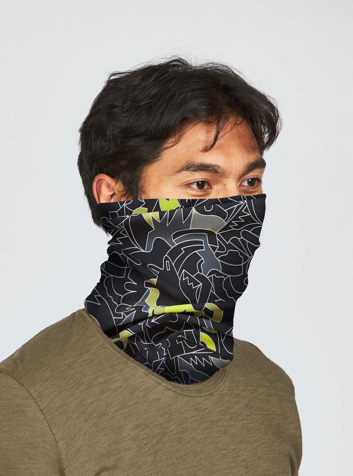Free Neck Gaiter in Geo-Refraction