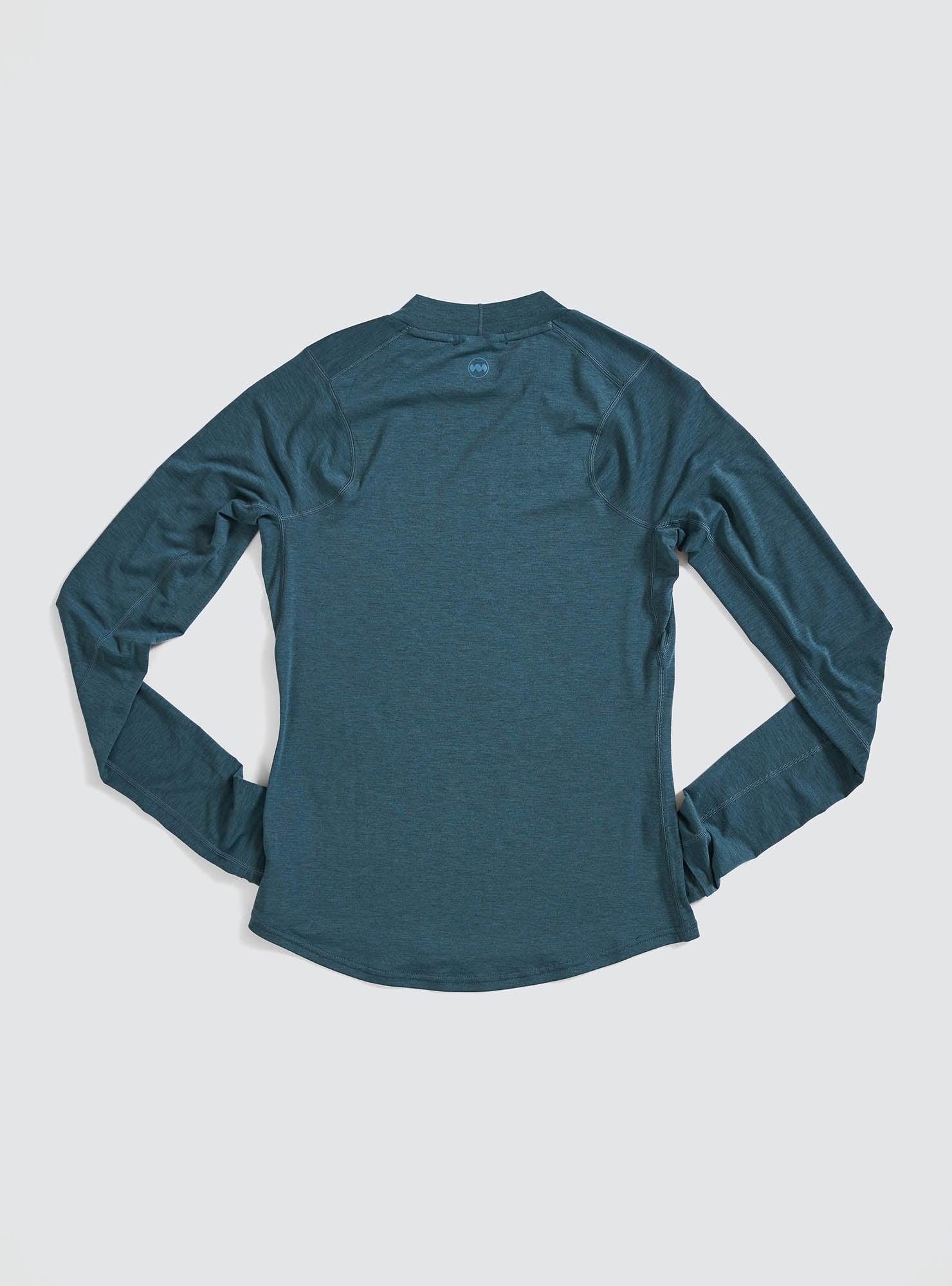 W's Swift Tech Mockneck LS in Atlantic