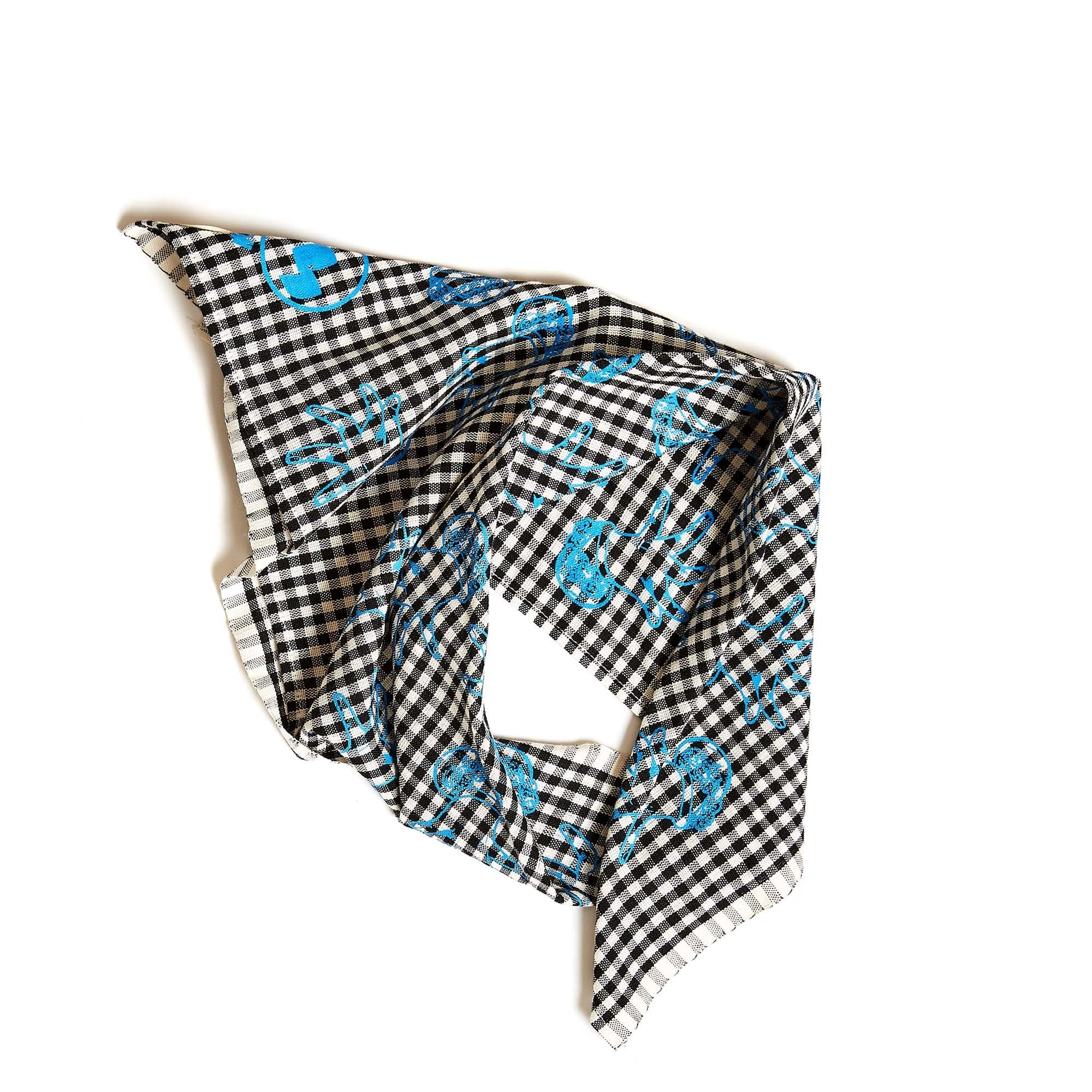 Krama Bandana in Small Checkered Flower