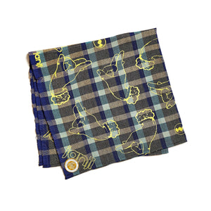 Krama Bandana in Royal Checkered Fruit
