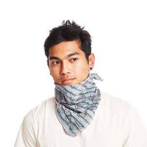 Krama Bandana in Striped Leaf