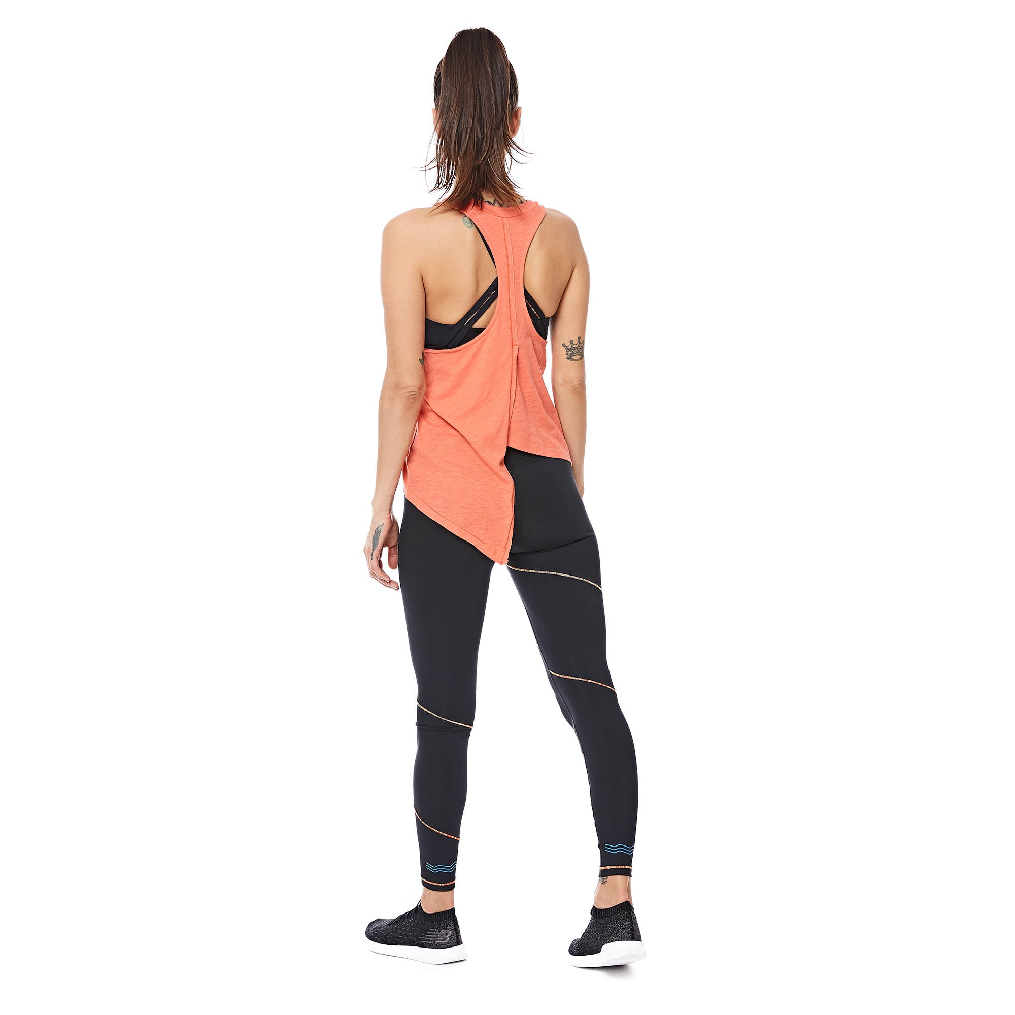 W's Runpaca Wrap Tank in Emberglow