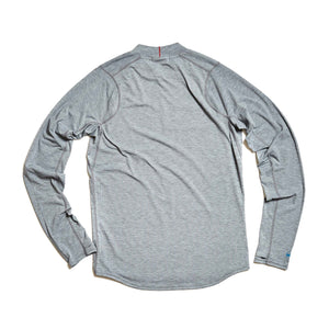 M's Swift Tech Merino LS Mock-Neck in Pebble