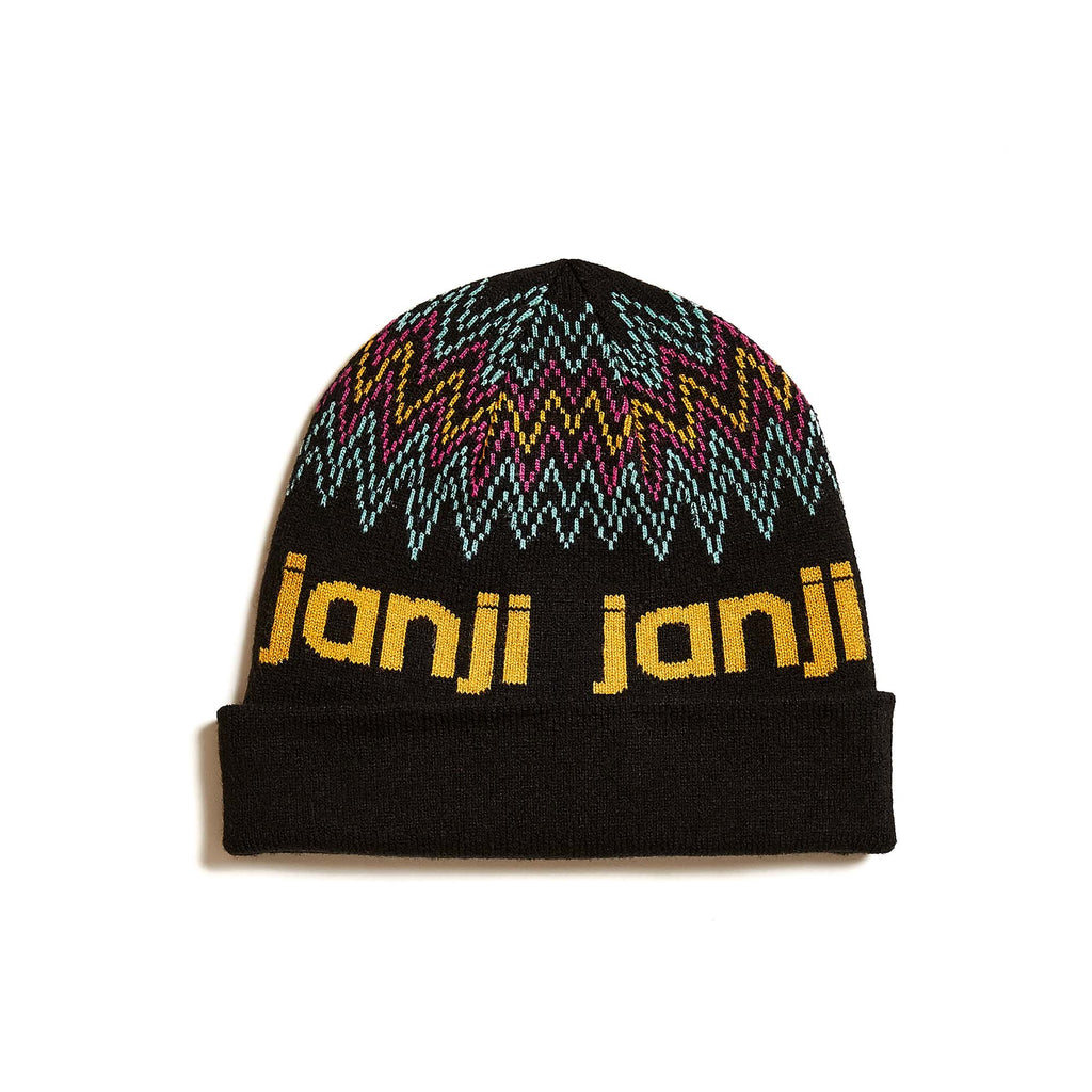 Outlook Beanie in Midnight Zigzag