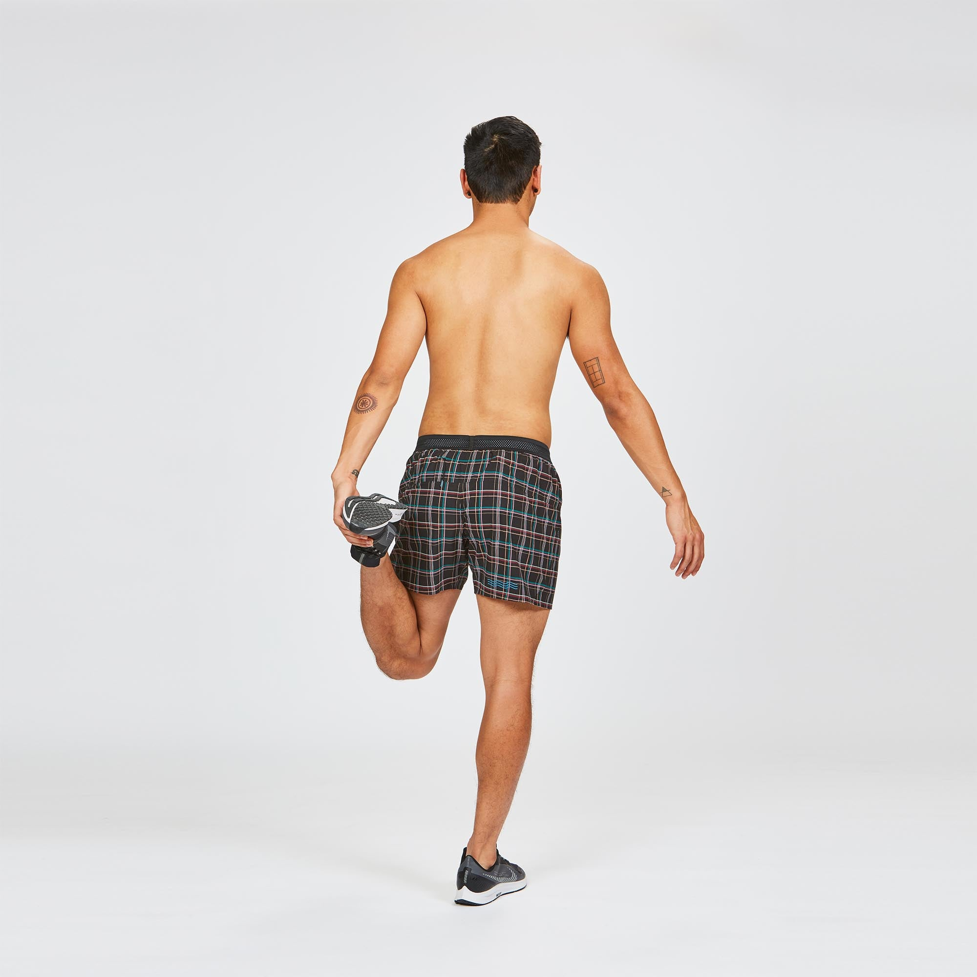 "M's 5"" AFO Middle Short in Midnight Plaid"