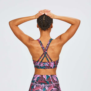 W's Pace Sports Bra in Flora Orchid