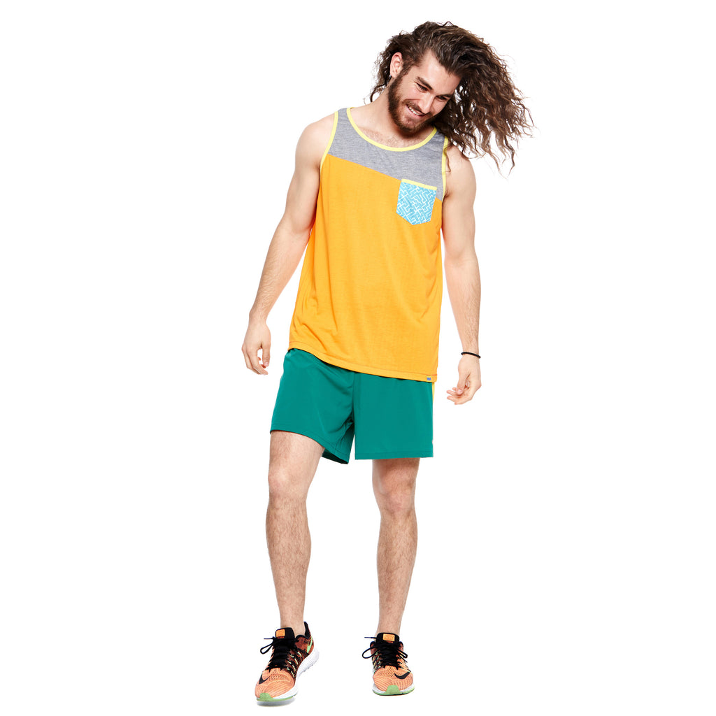 Men's Sunset Pocket Tank