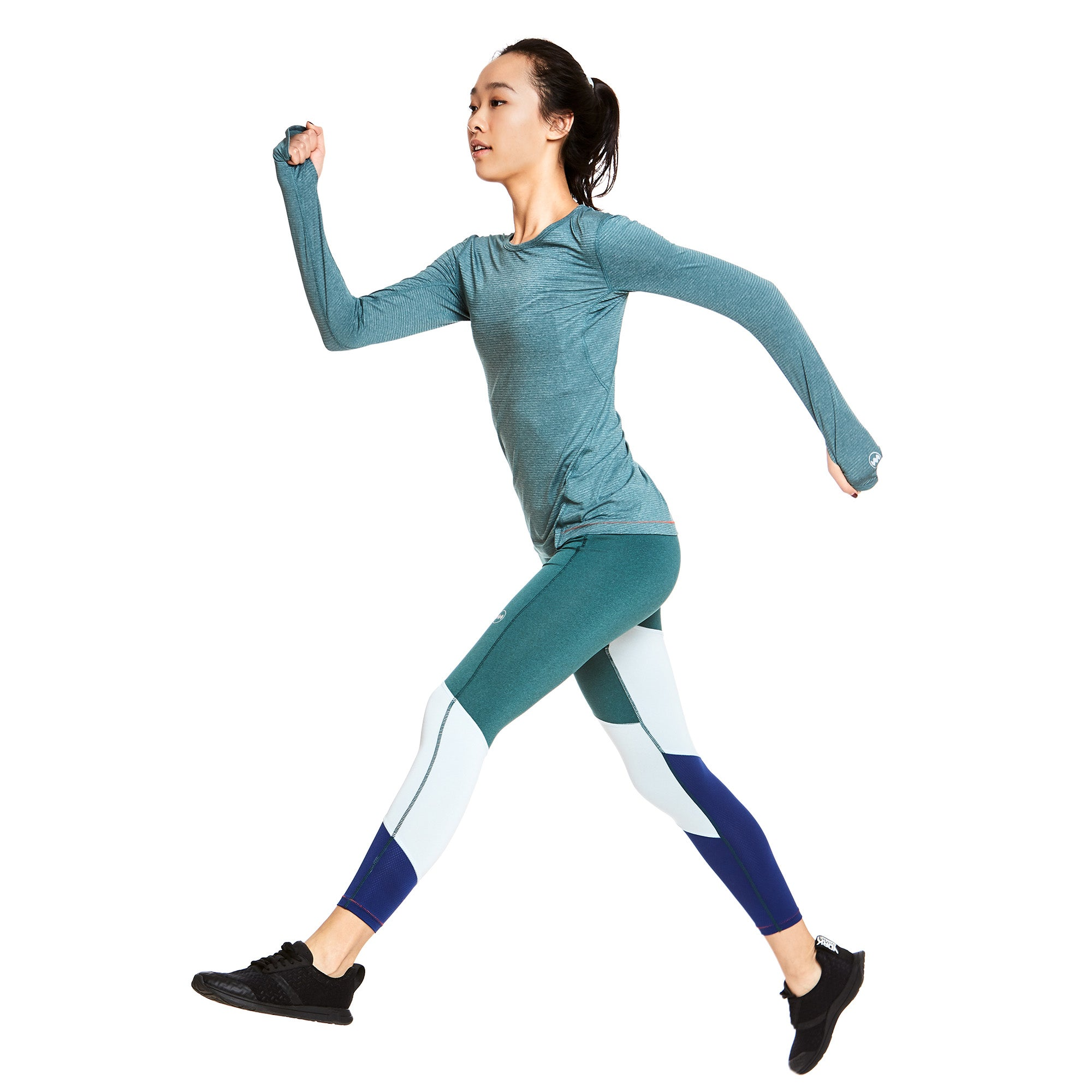 W's Strata Tech Long Sleeve in Mwala Blue