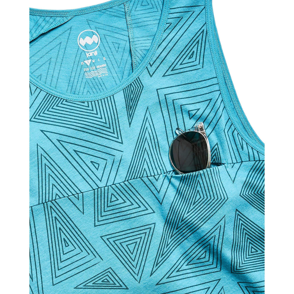 M's Feather Tank in Mugga Blue