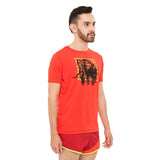 Men's Kenya Bull Elephant Short Sleeve Running Shirt