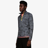 Men's Printed 1/4 Zip Pullover Running Jacket