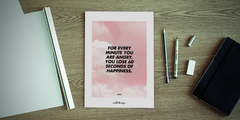 For every minute you are angry, you lose 60 seconds of happiness. // R.W.E