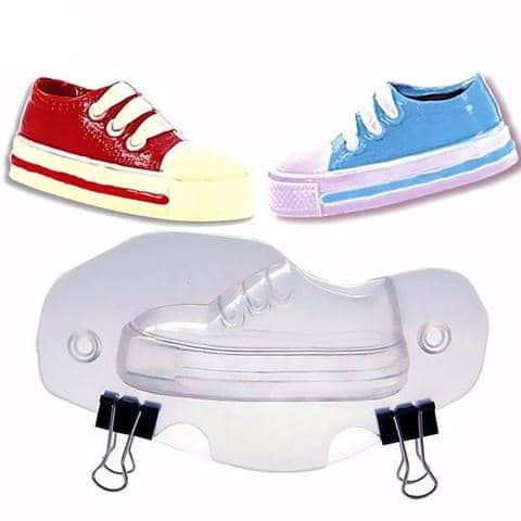 3d silicone chocolate kid's shoe mould