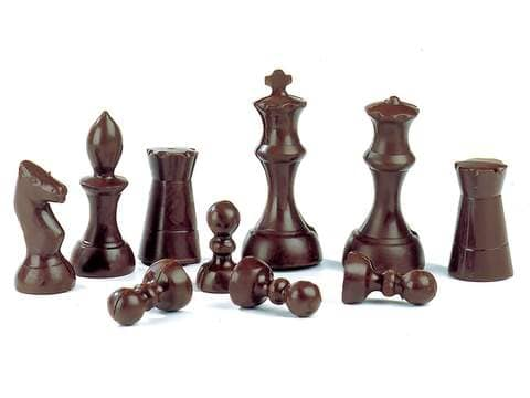 3d chocolate chess set mould