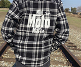Youth Black & White Flannel