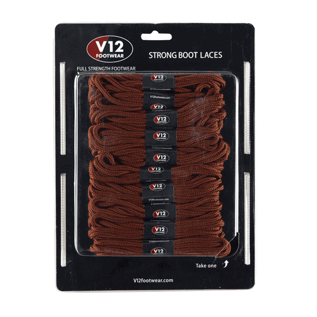 V12LCLB Light Brown Strong Boot Laces (10 pack)