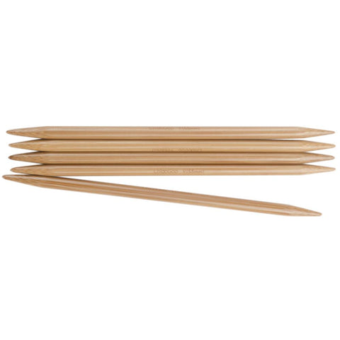 "6"" Bamboo Double Pointed Needles"
