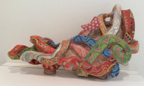 'Dipsy Doodle' Wood sculpture by Amy Giffin (2021)